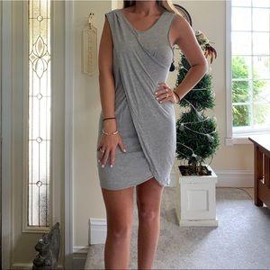 All saints grey wrap t shirt dress size 10!